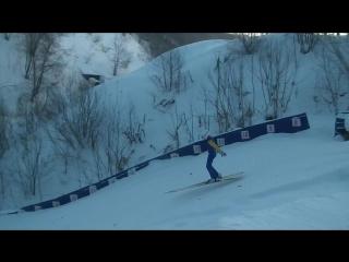 """Гуриенко Валерия 10 лет. СДЮШОР """"Летающий лыжник"""". Трамплин К-15"""