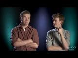 Интервью Уилла Поултера и Томаса Сангстера для Yahoo Movies RUS SUB часть 1.