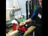 Обработка лыж парафином в СЦ Спортмастер